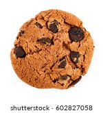 chocolate chip cookies isolated ... | Shutterstock . vector #602827058