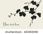 stylized orchid branch design... | Shutterstock .eps vector #60283048