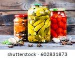Jars Of Pickled Vegetables ...