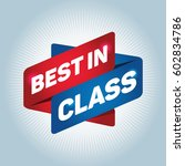 best in class arrow tag sign. | Shutterstock .eps vector #602834786