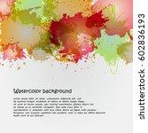 watercolor backgrounds for... | Shutterstock .eps vector #602836193