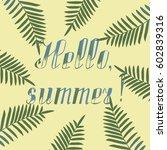 hand lettered typographic... | Shutterstock .eps vector #602839316