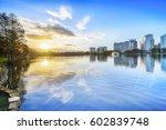 orlando sunrise. located in... | Shutterstock . vector #602839748