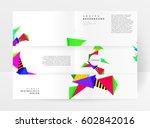 memphis geometric background... | Shutterstock .eps vector #602842016