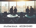 private work meeting in office... | Shutterstock . vector #602843480