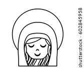 cute mary virgin icon vector...   Shutterstock .eps vector #602845958