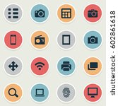 vector illustration set of...   Shutterstock .eps vector #602861618