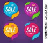 collection of sale labels price ... | Shutterstock .eps vector #602865500
