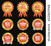 set of excellent quality red... | Shutterstock .eps vector #602865968