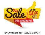 big sale price offer deal... | Shutterstock .eps vector #602865974