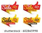 big sale price offer deal... | Shutterstock .eps vector #602865998