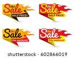 hot sale price offer deal... | Shutterstock .eps vector #602866019