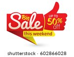 big sale price offer deal... | Shutterstock .eps vector #602866028