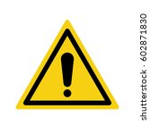 warning sign exclamation mark | Shutterstock .eps vector #602871830