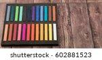 chalk pastel stick in black...   Shutterstock . vector #602881523