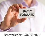 closeup on businessman holding... | Shutterstock . vector #602887823