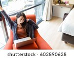 woman feeling tired when... | Shutterstock . vector #602890628