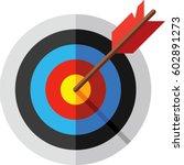 target  arrow and bulls eye icon | Shutterstock .eps vector #602891273