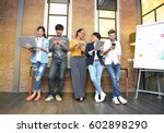 group of businesspersons of...   Shutterstock . vector #602898290
