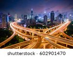 shanghai elevated road junction ... | Shutterstock . vector #602901470