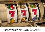 slot machine 777 close up | Shutterstock . vector #602936408