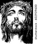 jesus christ  crucifixion. hand ...   Shutterstock .eps vector #602939600
