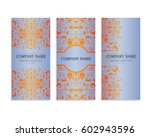 set of templates for flyers... | Shutterstock .eps vector #602943596