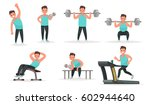 set of sports character. the... | Shutterstock .eps vector #602944640