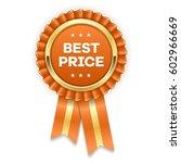 gold best price badge   rosette ... | Shutterstock .eps vector #602966669