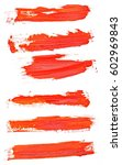 red grunge brush strokes set...   Shutterstock . vector #602969843