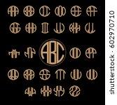 3 Letter Monogram Set Pack...