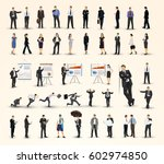big collection of business... | Shutterstock .eps vector #602974850