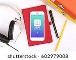online tutorial service icon... | Shutterstock . vector #602979008