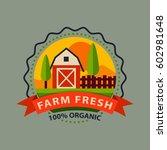 flat style of bio organic eco... | Shutterstock .eps vector #602981648