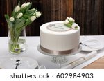 first holy communion cake on... | Shutterstock . vector #602984903