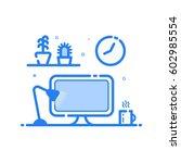 vector illustration of blue... | Shutterstock .eps vector #602985554