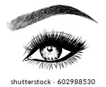 perfect winged eyeliner | Shutterstock .eps vector #602988530