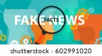 hoax fake news or facts... | Shutterstock .eps vector #602991020