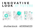 trendy innovation systems... | Shutterstock .eps vector #603006020