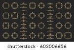 huge rosette wicker border... | Shutterstock .eps vector #603006656