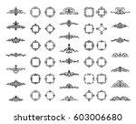 huge rosette wicker border... | Shutterstock .eps vector #603006680
