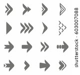arrow icon vector set | Shutterstock .eps vector #603007088