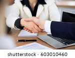 close up of business people... | Shutterstock . vector #603010460