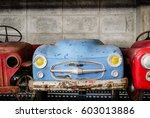 old pedal cars for kid ...   Shutterstock . vector #603013886