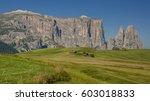 schlern sciliar ridge with... | Shutterstock . vector #603018833