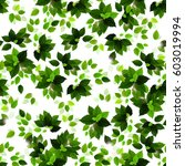 seamless background with green... | Shutterstock .eps vector #603019994
