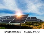 solar panel  photovoltaic ... | Shutterstock . vector #603025970