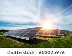 solar panel  photovoltaic ... | Shutterstock . vector #603025976