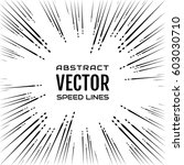 festive comic radial speed line ... | Shutterstock .eps vector #603030710
