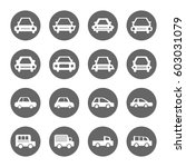 car icons set white on circle... | Shutterstock .eps vector #603031079